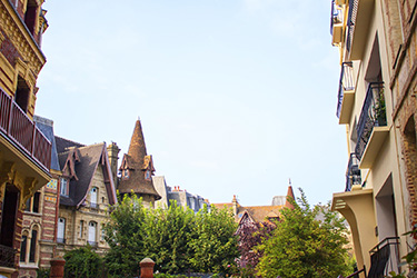 Pretty homes in Deauville France