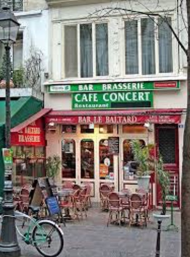 Paris Cafe example of Life in France