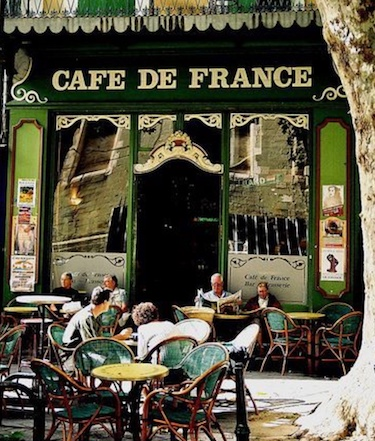 Cafe culture - A benefit of owning property in the Languedoc-Roussillon