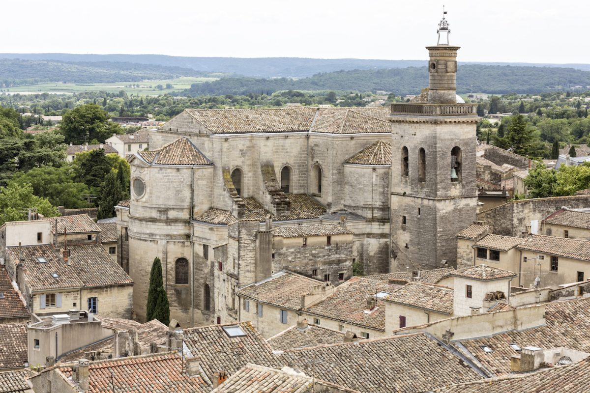 Uzes Town aerial image
